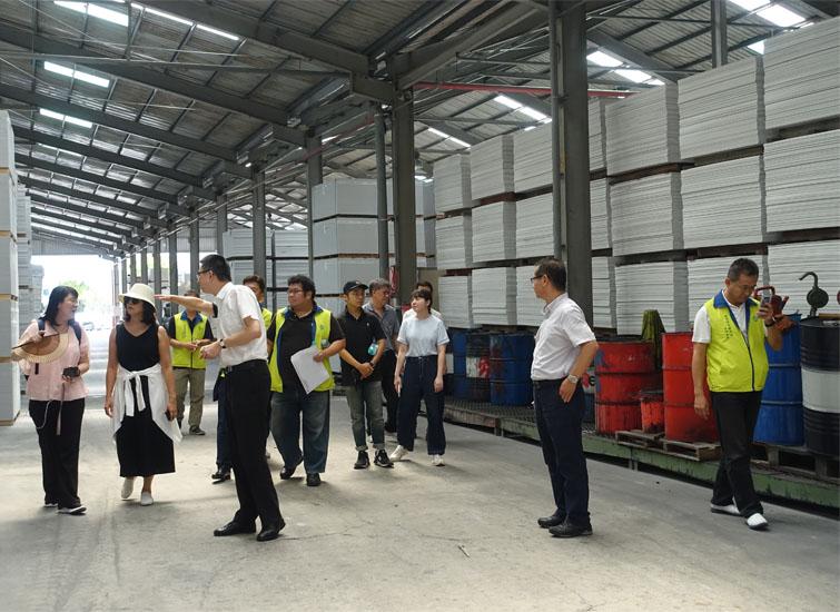 台灣防火綠建材裝修學會7月8日舉辦企業參訪  訪台達化工與惠普二公司