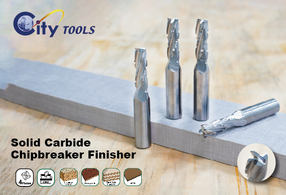 Solid Carbide - Chipbreaker Finisher - Four Flute - Upcut